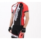 Kooplus-Men's Cycling Jersey Short Sleeves + BIB Shorts chamois Cycling Suits (Red and White)