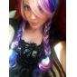 lolita peruk inspirerad av blått och lila och rosa blandad färg punk