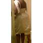 Coloană / Teacă Bijuterie Lungime Genunchi Satin Rochie de mireasă cu Mărgele Buzunar de LAN TING BRIDE®