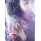 Femei Rotund Bluză Casul/Zilnic Simplu(ă),Plisat Manșon Lung Toate Sezoanele-Multi-color Subțire Bumbac