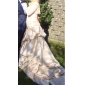 Ball Gown Plus Sizes Wedding Dress - Ivory Chapel Train Strapless Satin/Lace