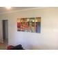 canvas schilderijen set van 5 moderne abstracte rode blok met de hand geschilderd canvas schilderij klaar te hangen