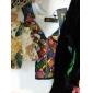 Femei În V Bluză Casul/Zilnic Simplu(ă),Brodată ½ Lungime Manșon Vară-Albastru / Alb Subțire