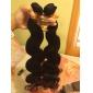 3st lot brasilianska jungfru hår vågigt mänskliga hårförlängningar naturligt svart hår väver