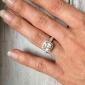 2 carate stil halo prințesă tăiat placat 925 aur alb de argint femei inel cu diamant cristal Sona