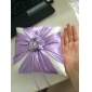 Lilac Floral Design Satin giftering Pillow
