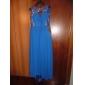 Serata formale / Ballo militare Vestito - Brillante e glitterato / Con spacco Linea-A / Da principessa Con decorazione gioielloStrascico