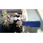 Linia -A Fără Bretele Pe Umăr Gât V Lungime Podea Tricot Rochie Domnișoară Onoare cu Cruce Pliuri de LAN TING BRIDE®