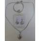U7 lyx 18k guld platina halsband örhängen armband