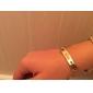 personlig gåva rostfritt stål smycken graverad id armband 0.7cm bredd