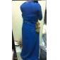 Teacă / coloană un umăr podea lungă sifon mama rochiei de mireasa de lan ting bride®