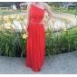 Homecoming Formal Evening/Prom/Military Ball Dress - Ruby Plus Sizes Sheath/Column One Shoulder Floor-length Chiffon