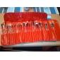 24 ensembles de brosses Poil Synthétique Pinceau en Poils de Poney Pinceau en Nylon Autres Cheval Limite les Bactéries Visage Lèvre Œil