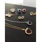 Yueli kvinnors Vit 18K Guld Zircon Pendant Inkl. Halsband D0585