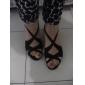 Chaussures de danse (Noir/Marron/Rouge) - Personnalisable - Talons personnalisés - Satin - Danse latine/Salsa