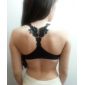 Women's Lace Y Collar Embroidery Pure Color Seamless Glaze Bra