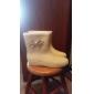 Gummi Kvinnors Flat Heel Rain Boot Ankle Boots