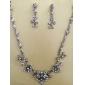stralucitoare cehă pietre aliaj placat cu colier de mireasă de nunta si cercei set bijuterii