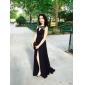 linie šperk sweep / kartáč vlak šifon večerní šaty s dělenou přední inspirované Ziyi Zhang