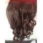 24 tums 120g långa brunsvart värmebeständiga syntetfibrer lockigt klipp i hårförlängningar med 5 clips