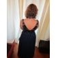 Homecoming Prom/Military Ball/Formal Evening Dress - Dark Navy Plus Sizes A-line Scoop Floor-length Chiffon