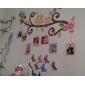 Doudouwo ® Djur tecknad Happy Owl Frame Wall Sticker