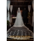 Amazing One-tier Cathedral Wedding Veils With Scalloped/Pencil Edge