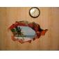 3d väggdekorationer vackra sommar strand pvc tvättbara väggdekaler