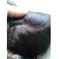 8-22inch Svart Spetsfront Kroppsvågor Mänskligt hår Stängning Ljusbrunt Schweizisk spets 30g-60g gram Cap Storlek