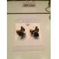 lyckliga docka kvinnors alla matchande rosett pärla vintage örhängen