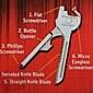 nouveau mini multi outils trousseau poche 6-en-1 utile-clé pliage outil extérieure