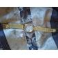 pentru Doamne Ceas Elegant Ceas La Modă Ceas de Mână Quartz Ștras imitație de diamant Aliaj Bandă Sclipici Flori Auriu Auriu Alb Negru