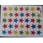 10st Färgglada Stjärnor formade klistermärken