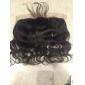 13 x 4 inch Svart Spetsfront Kroppsvågor Mänskligt hår Stängning Ljusbrunt Schweizisk spets 30g - 80g gram Cap Storlek