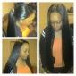 3 buntar peruanska virgin hår rakt av nedläggning obearbetat människohår väver och nedläggningar spets fri / mitt / 3 del