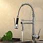 Nutida Utdragbar / Pull-down Horisontell montering Utdragbar dusch / Förskölj with  Keramisk Ventil Singel Handtag Ett hål for  Krom ,