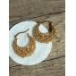 U7 heta försäljning ihåliga vintage fruar hoop örhängen 18k guld platina för kvinnor av hög kvalitet
