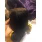 8-22inch Svart / Naturlig svart (#1B) Spetsfront Vågigt Mänskligt hår Stängning Ljusbrunt Schweizisk spets 30g-60g gram Cap Storlek