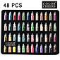 48 Färger Glas flaska Nail Art Dekoration Random Models