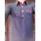 T-Shirts ( Coton mélangé ) Informel Col chemise à Manches longues