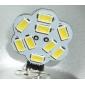 4W G4 LED-lampor med G-sockel 9 SMD 5630 430 lm Naturlig vit DC 12 V