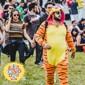 Kigurumi Pyjamas Tiger Leotard/Onesie Halloween Animal Sovplagg Orange Djurmönster / Lappverk Polar Fleece Kigurumi UnisexHalloween / Jul