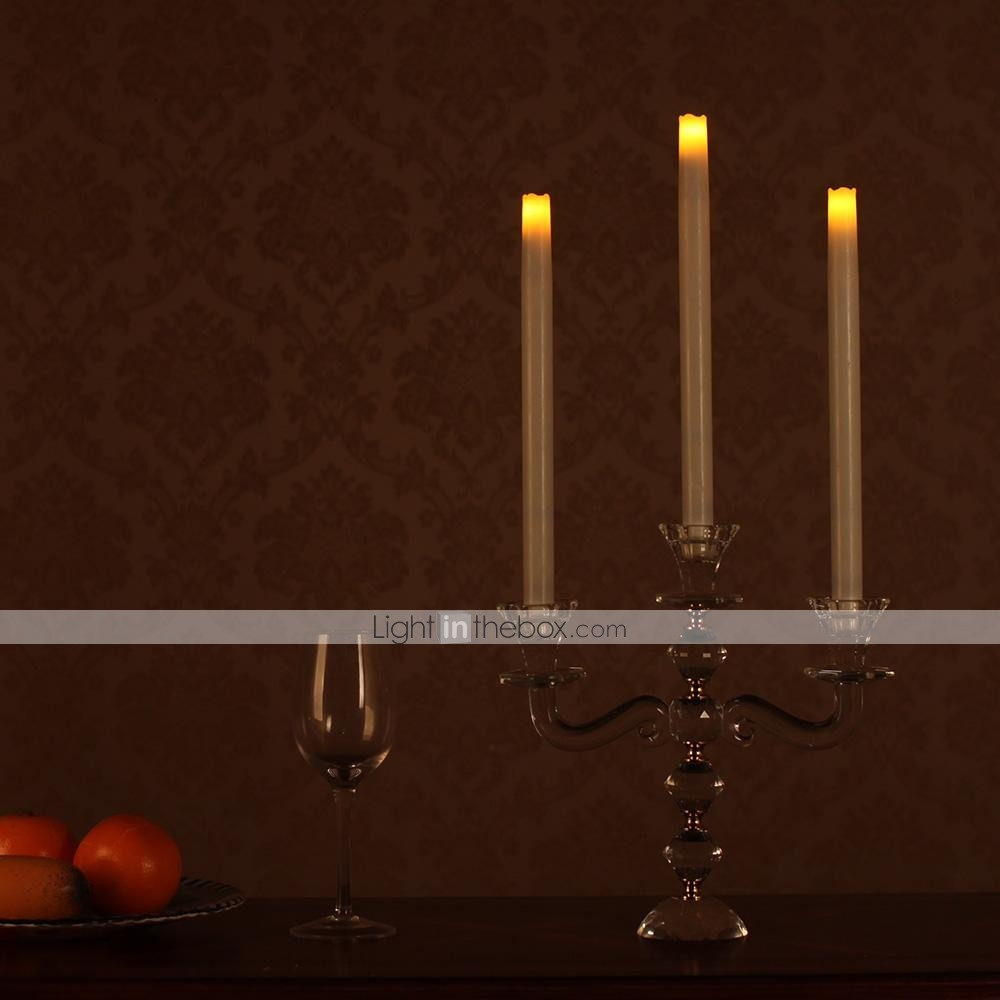 flameless candles with timer home impressions 12 inch smooth flameless real wax taper 28703