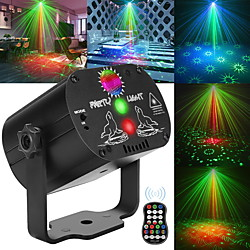 60 Patterns Laser Stage Light LED USB Charging Party RGB LED Disco Light DJ Moving Head Laser Projec