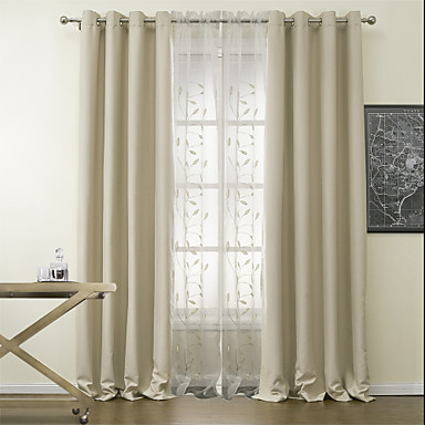Curtains With Sheers In The Middle