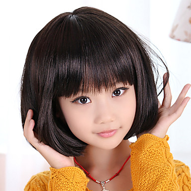 haircuts for toddlers capless bob haircut style children s wig black usd 19 99 9940