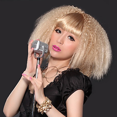 how to style short puffy hair bangs corn stigma style faddish hair wig 7535 | rweebb1388719548713