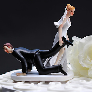 bride dragging groom wedding cake toppers cake toppers resin cake topper dragging groom 12132