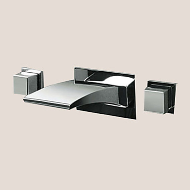 bathroom sinks faucets contemporary wall mounted led waterfall with ceramic 11478
