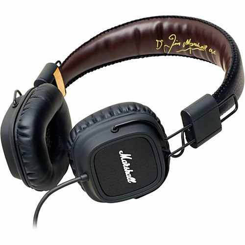 MARSHALL MAJOR On Ear / Headband Wired Headphones Dynamic Plastic Travel & Entertainment Earphone Noise-isolating / with Microphone / with Volume Control Headset